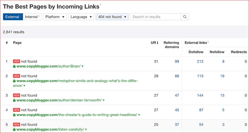 Xây dựng broken link để kiếm backlink